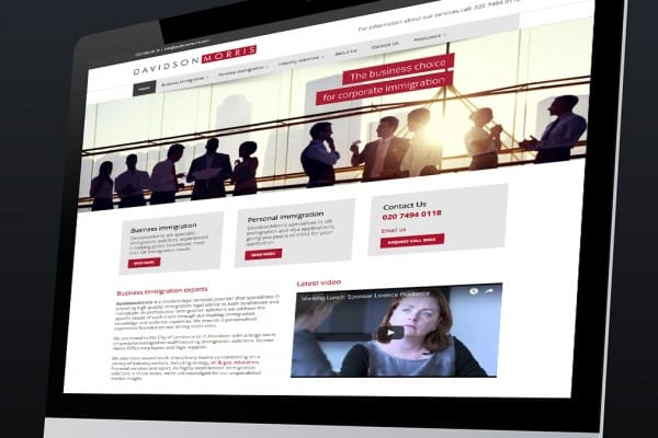 Web development for DavidsonMorris