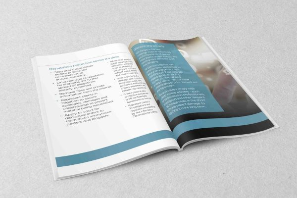 Brochure Design for Top 30 Law Firm