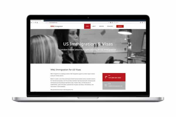 Web development for NNU Immigration